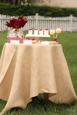 RUSTIC RASPBERRY DESSERT TABLE